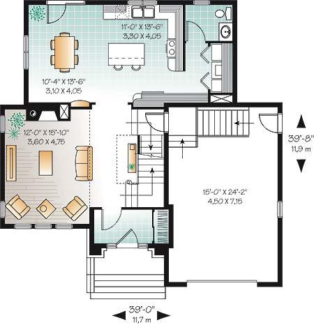 Замечательный проект двухэтажного каркасного дома  11 на 12 метров площадью  до 200 кв.м с гаражом и с 3 спальнями подходит для постоянного проживания. В большой спальне есть ванная. Также перед домом есть веранда..