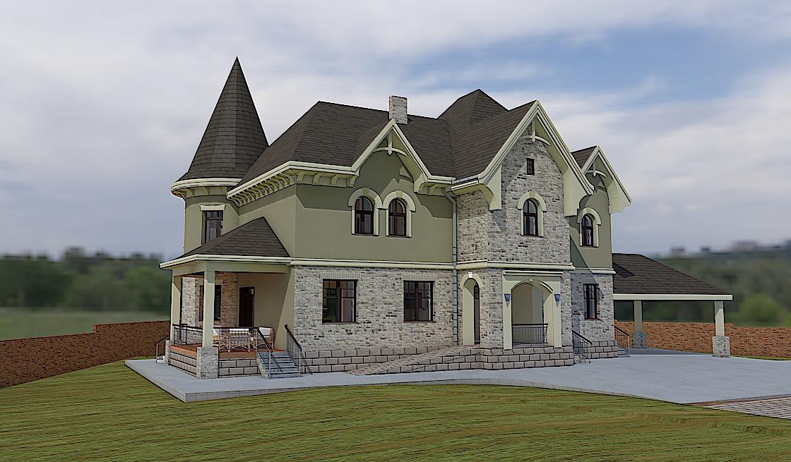 дома из кирпича с башенками проекты фото отопления