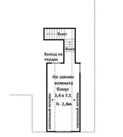 План мансарды Проект дома