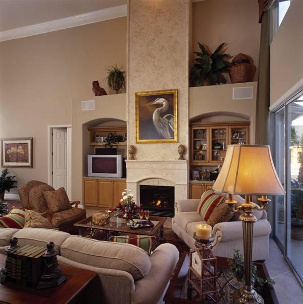 Гостиная План 2-этажного дома 279 кв м HD-6514-2-4