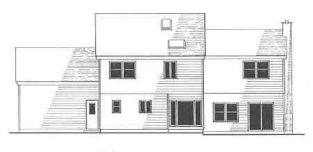 Проект двухэтажного каркасного дома площадью  до 200 кв.м с гаражом на 2 машины и с 4 спальнями подходит для постоянного проживания. В гостиной второй свет.