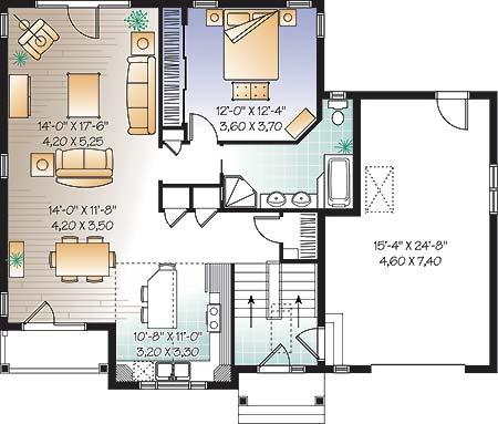 План 1 этажа План с жилым цоколем