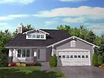 Уютный дом План каркасного дома с мансардой HS-8443-2-3