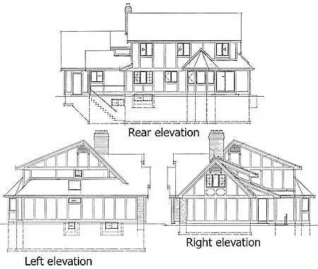 Этот практичный проект одноэтажного дома с мансардой в стиле фахверк площадью  до 250 кв.м с гаражом на 2 машины и с 4 спальнями подходит для постоянного проживания.
