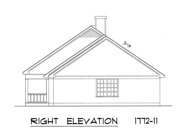 Вид справа План 1-этажного дома 23x12 165 кв м
