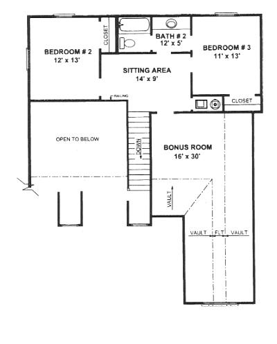 План 2 этажа План 2-этажного дома 14x16 с застекленной верандой