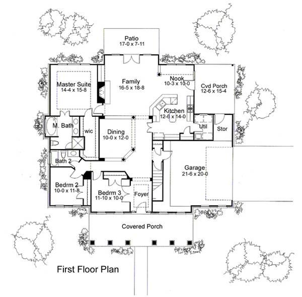 План 1 этажа Проект одноэтажного дома с большой верандой с колоннами