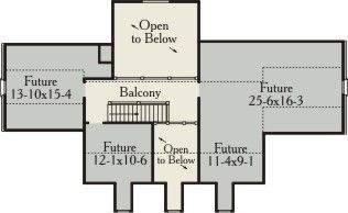 План 2 этажа План одноэтажного дома со свободной мансардой