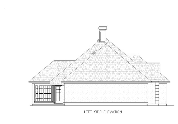 Проект каркасного дома План 1-этажного дома с 4 спальнями 156 кв м