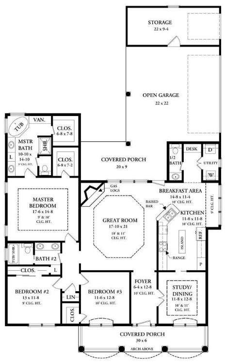 План 1 этажа План 1-этажного дома 15x24 186 кв м