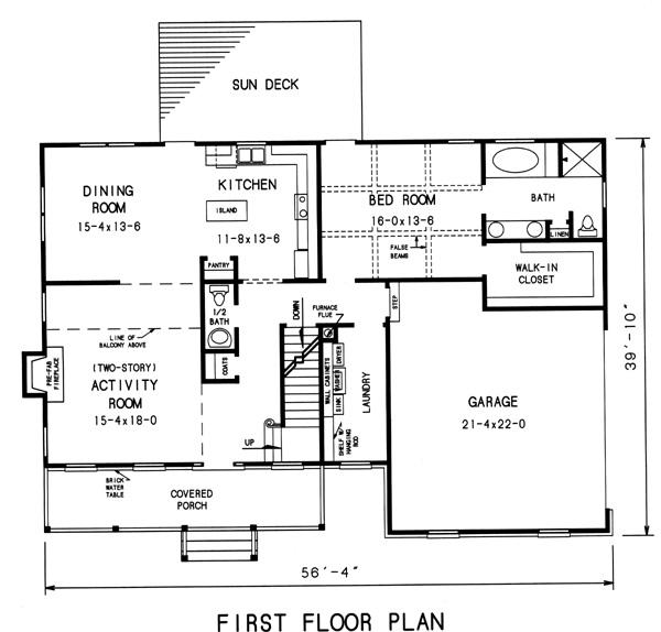 План 1 этажа План -этажного дома 17x12 192 кв м