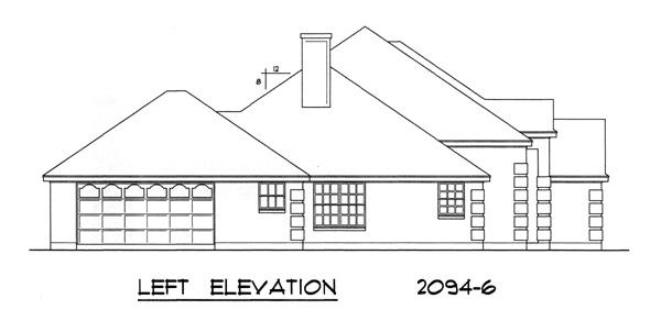 План 1-этажного дома  с 4 спальнями