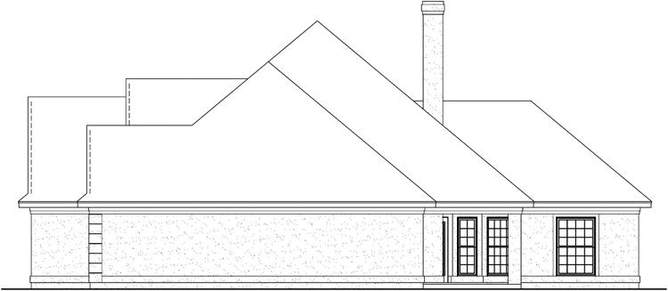 Вид справа План 1-этажного дома 20x19 178 кв м