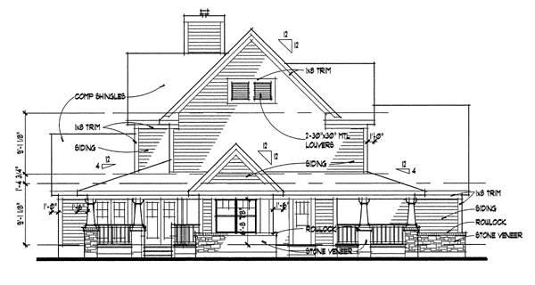 Вид слева План 2-этажного дома 17x18 181 кв м
