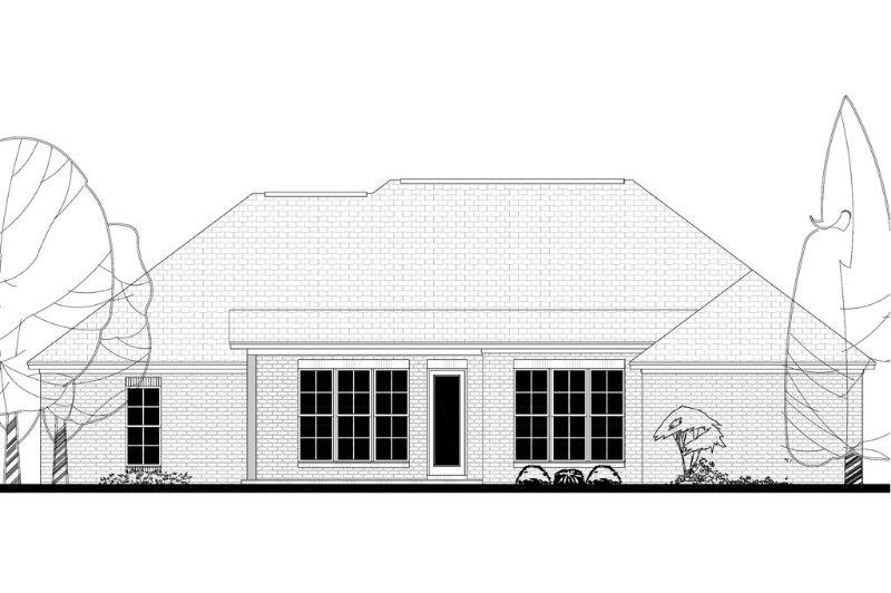 Проект каркасного дома План одноэтажного дома с террасой и летней кухней: каркасный кирпичный