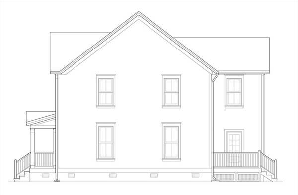 Вид слева План 2-этажного дома 9x13 167 кв м