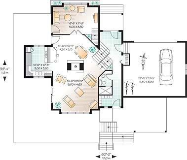 План 1 этажа План 1-этажного дома 18x13 180 кв м