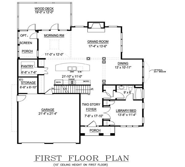 План 1 этажа План 2-этажного дома 13x16 JL-1427-2-5