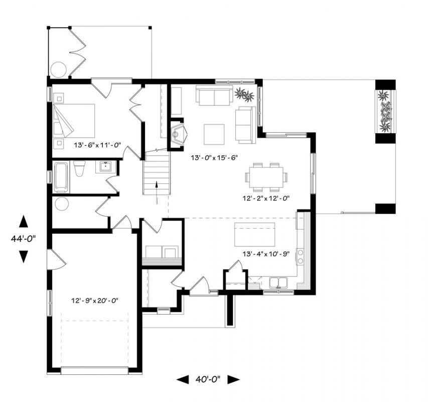 Проект двухэтажного коттеджа до 200 кв.м с отличной планировкой с 3 или 4 спальнями или кабинетом на первом этаже, со вторым светом, верандой, террасой с теплицей, котельной и балконом в хозяйской спальне.