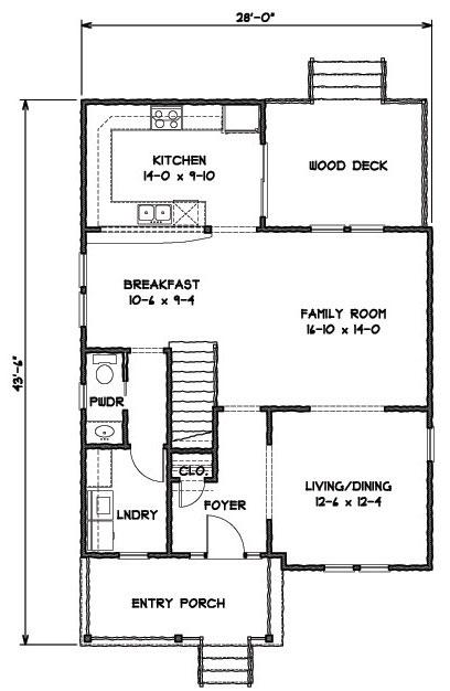 План 1 этажа План 2-этажного дома 9x13 167 кв м