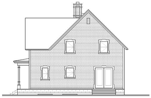 Вид сзади Проект загородного дома дома с мансардой до 200 кв м  TD-4668