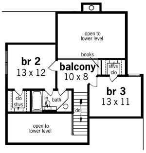 План 2 этажа План 2-этажного дома 17x13 160 кв м