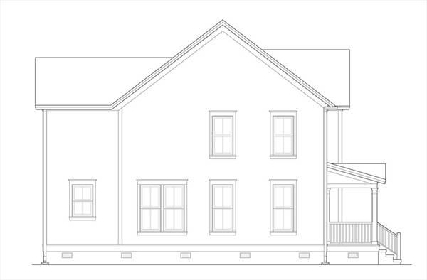 Вид справа План 2-этажного дома 9x13 167 кв м