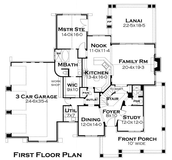 Этот прекрасный проект двухэтажного каркасного дома  площадью  до 250 кв.м с большим гаражом и с 4 спальнями подходит для постоянного проживания. В большой спальне есть ванная. Также перед домом есть веранда..