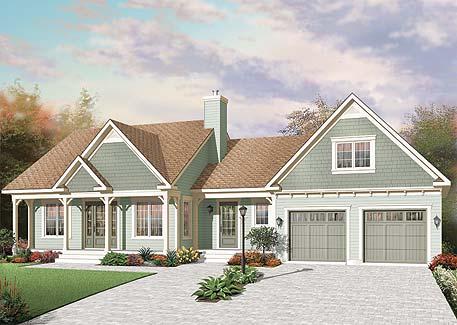 Удобный дом План дома с мансардой и гаражом до 150 кв. м: планировка с 3 спальнями на мансарде