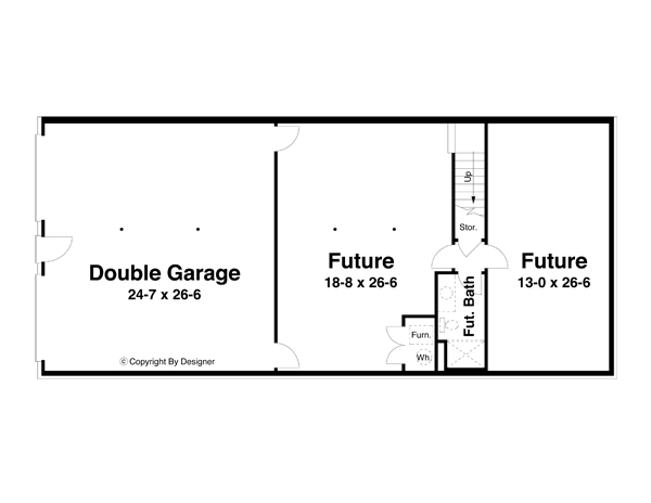 Проект каркасного дома Проект 1-этажного дома 19x8 165 кв м