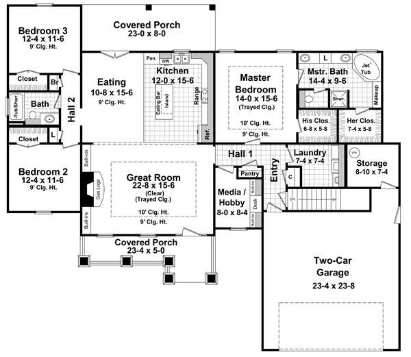 План 1 этажа План 1-этажного дома  179 кв м