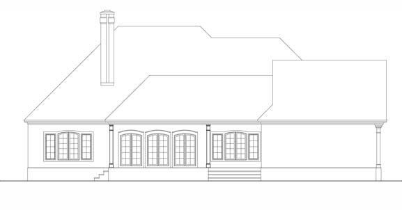 Вид сзади План 1-этажного дома 20x19 195 кв м