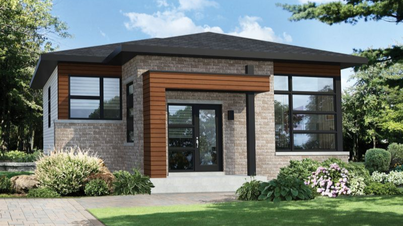 Plan Pm 80792 1 2 One Story Bedroom Modern House
