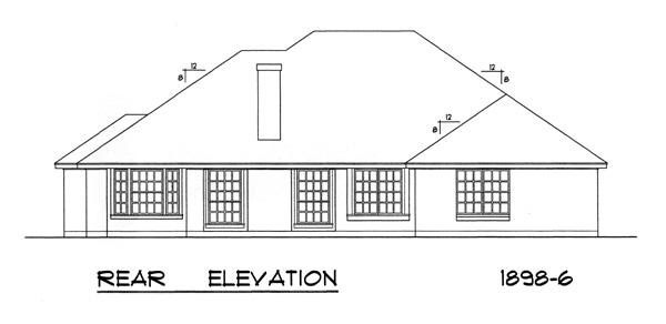 Вид сзади План 1-этажного дома 18x16 176 кв м