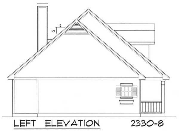 Вид слева План дома с мансардой и тремя верандами