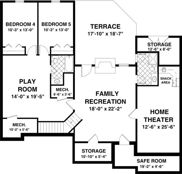 План цокольного этажа План 1-этажного дома 16x22 167 кв м