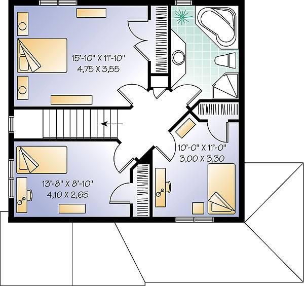План 2 этажа План 2-этажного дома 8x10 для дачи