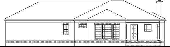 Фасад План 1-этажного дома 20x19 172 кв м