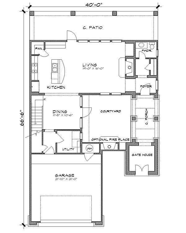 План 1 этажа План 2-этажного дома 13x20 221 кв м