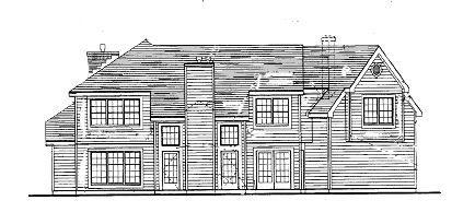 Вид сзади План  двухэтажного каркасного дома 19 на 17 217 кв м