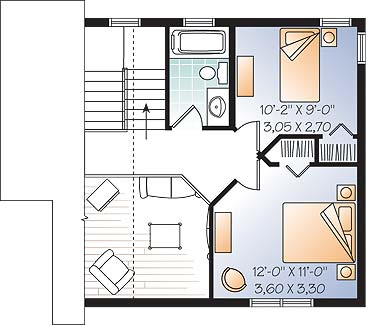 Проект одноэтажного дома с мансардой в дачном стиле 7 на 7 метров площадью  до 100 кв.м с 2 спальнями подходит  для дачи . Также перед домом есть веранда..