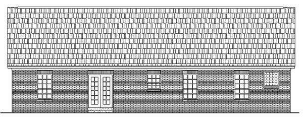 Вид сзади Проект небольшого одноэтажного дома до 150 м