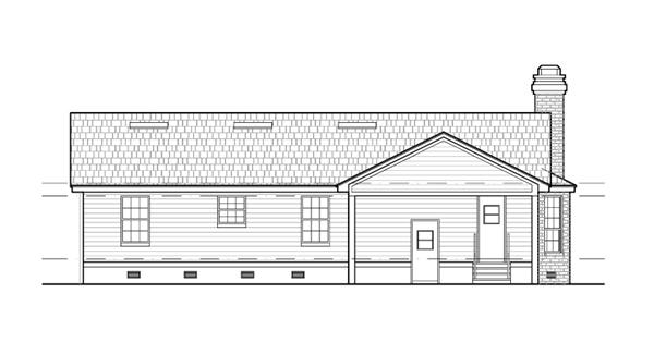 Вид сзади План 1-этажного дома 16x22 134 кв м