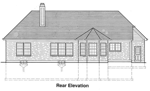 Вид сзади Проект одноэтажного кирпичного дома площадью до 140 кв м
