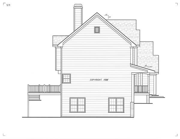 Вид слева Проект 2-этажного дома 13x11 156 кв м