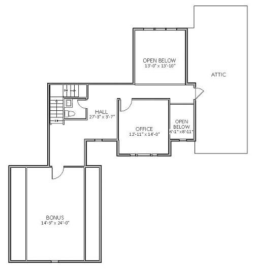 План 2 этажа Дом с верандой и парадной столовой