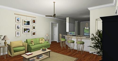 Уютный дом План 1-этажного дома 16x13 152 кв м