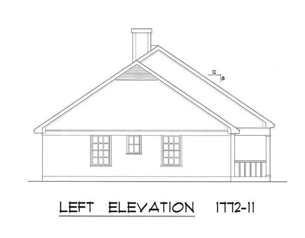 Вид слева План 1-этажного дома 23x12 165 кв м