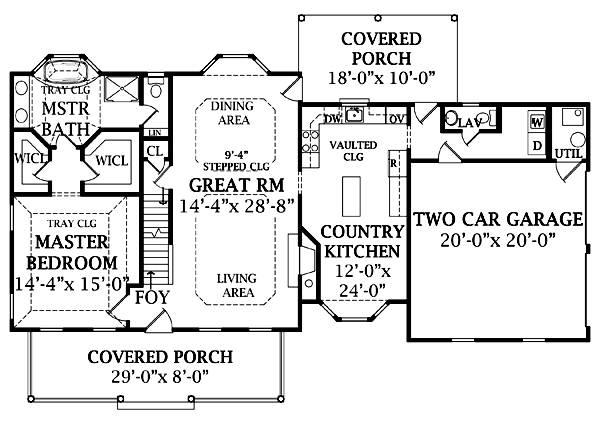 План 1 этажа План 2-этажного дома 20x13 181 кв м