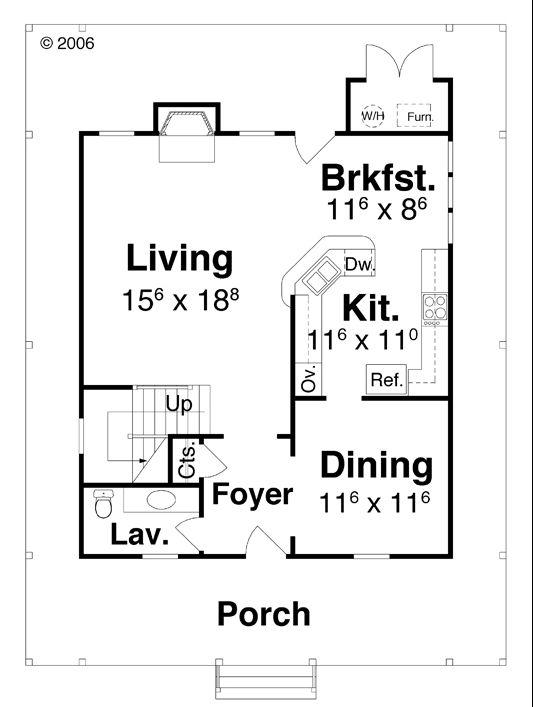 План 1 этажа Проект простого двухэтажного дома окруженного террасой